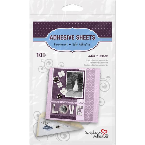 Scrapbook Adhesives Adhesive Sheets, 4x6 -