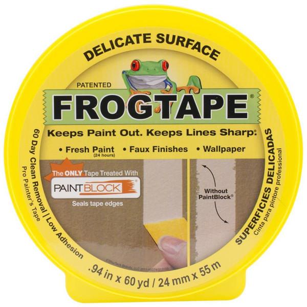 ShurTech Yellow Frog Delicate Multisurface Masking Tape -