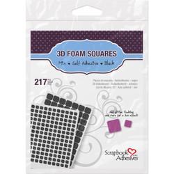 Scrapbook Adhesives 3-D Foam Squares, Mixed Black -