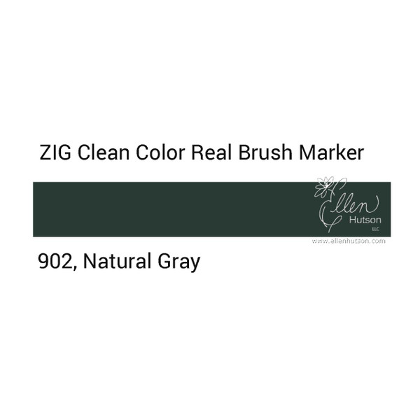 902 - Natural Gray, ZIG Clean Color Real Brush Marker -