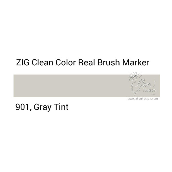 901 - Gray Tint, ZIG Clean Color Real Brush Marker -