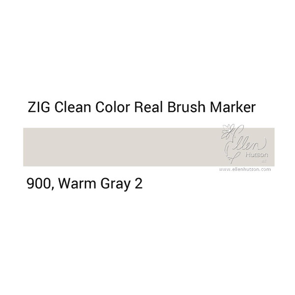 900 - Warm Gray 2, ZIG Clean Color Real Brush Marker -