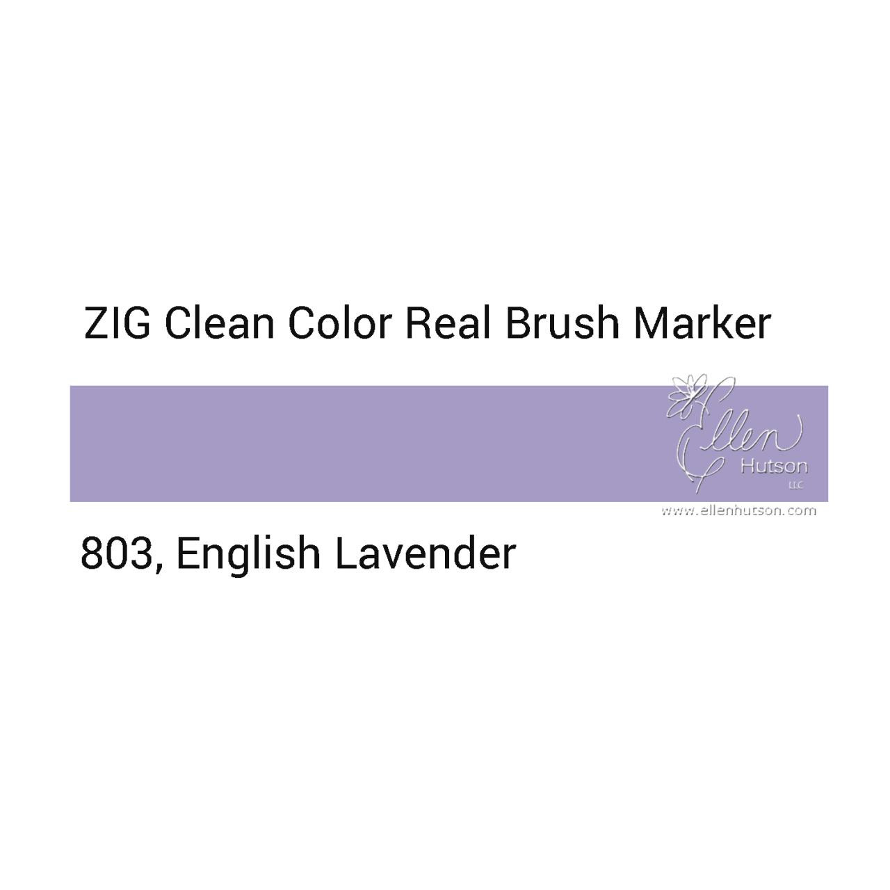 803 - English Lavender, ZIG Clean Color Real Brush Marker -