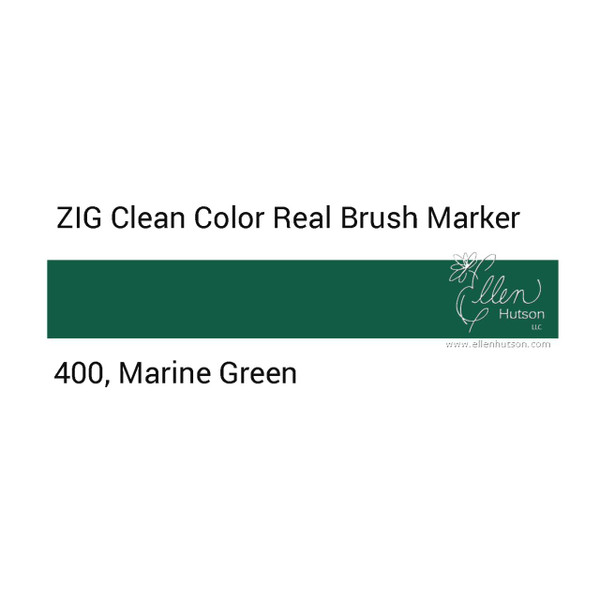 400 - Marine Green, ZIG Clean Color Real Brush Marker -