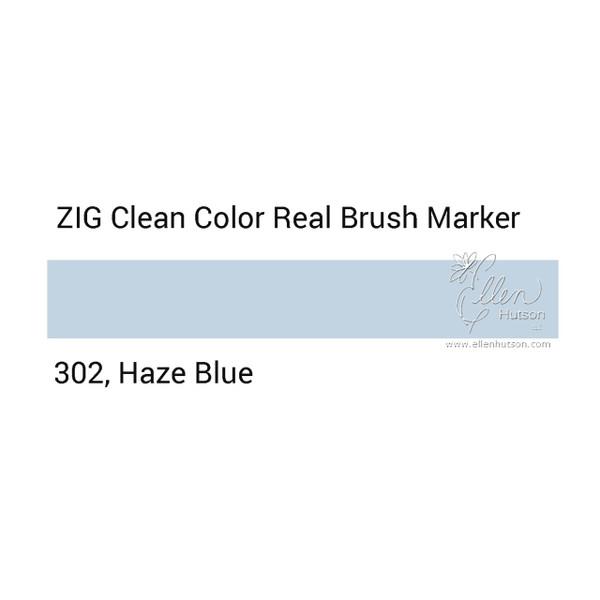 302 - Haze Blue, ZIG Clean Color Real Brush Marker -