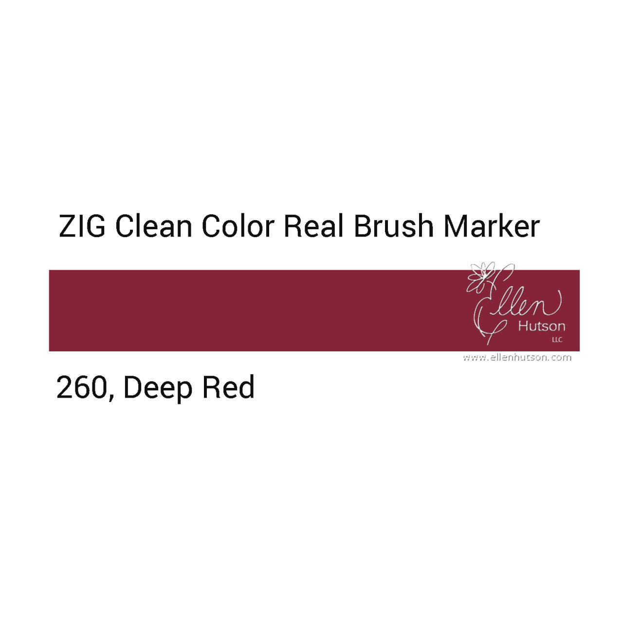 260 - Deep Red, ZIG Clean Color Real Brush Marker -