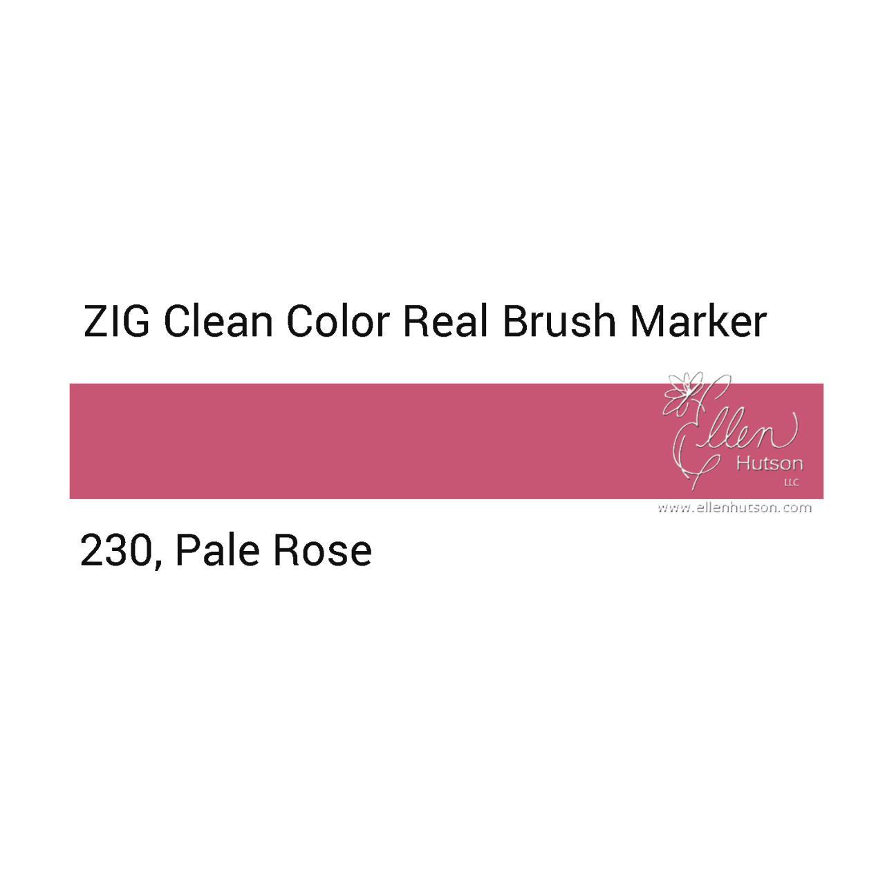 230 - Pale Rose, ZIG Clean Color Real Brush Marker -