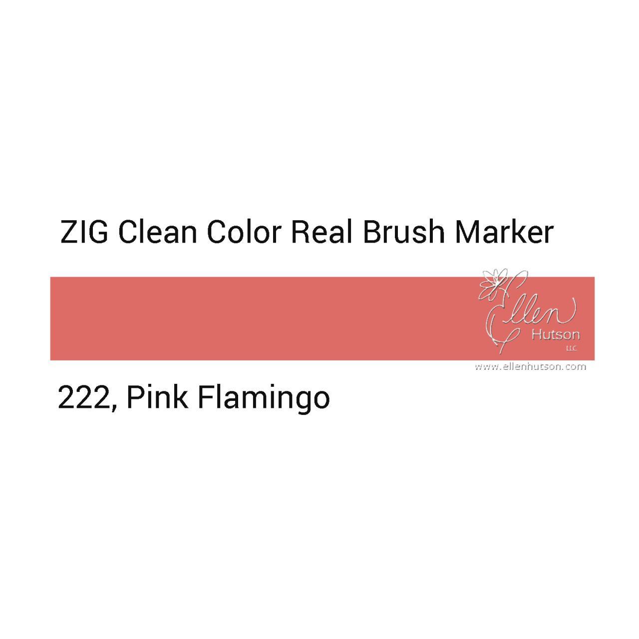 222 - Pink Flamingo, ZIG Clean Color Real Brush Marker -