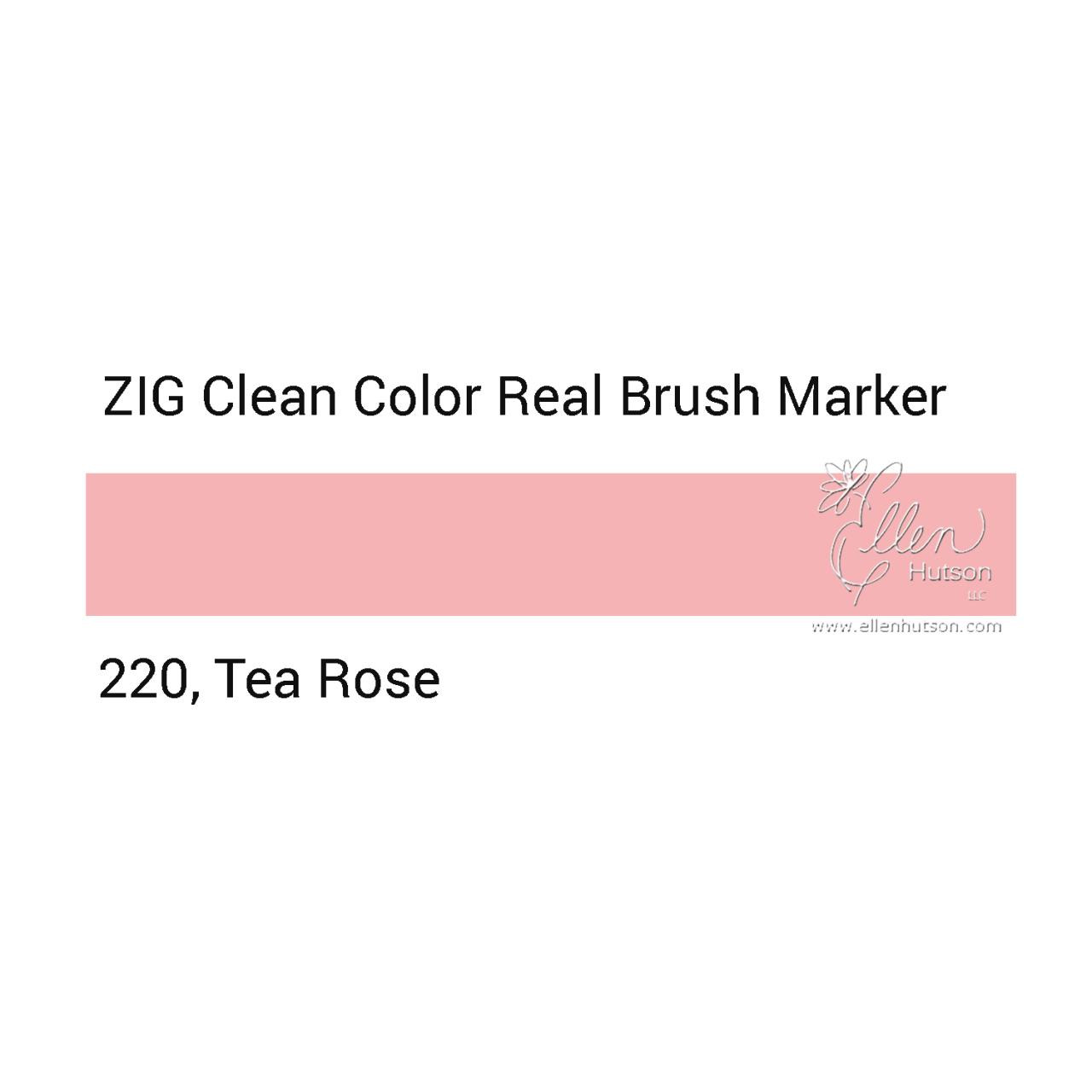 220 - Tea Rose, ZIG Clean Color Real Brush Marker -