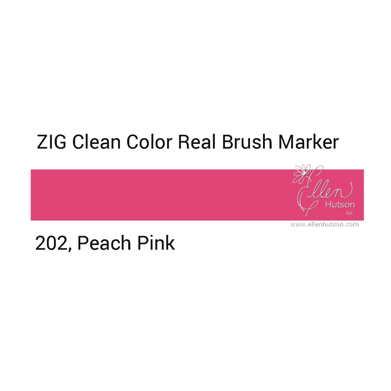 202 - Peach Pink, ZIG Clean Color Real Brush Marker -