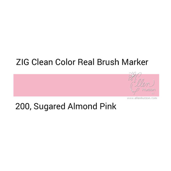 200 - Sugared Almond Pink, ZIG Clean Color Real Brush Marker -