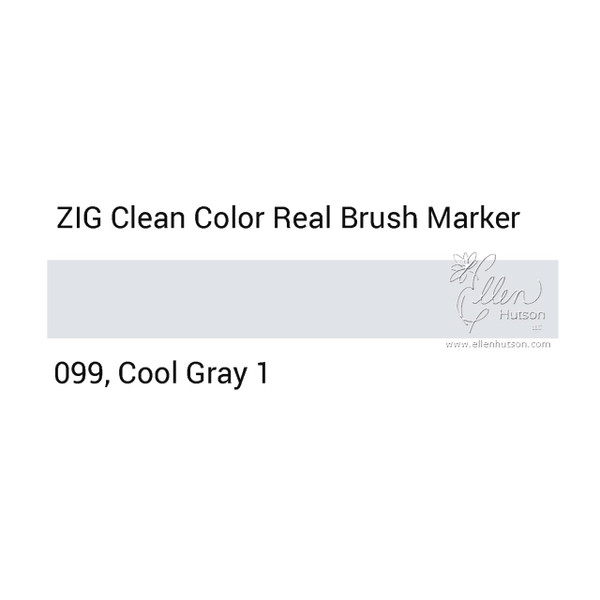 099 - Cool Gray 1, ZIG Clean Color Real Brush Marker -