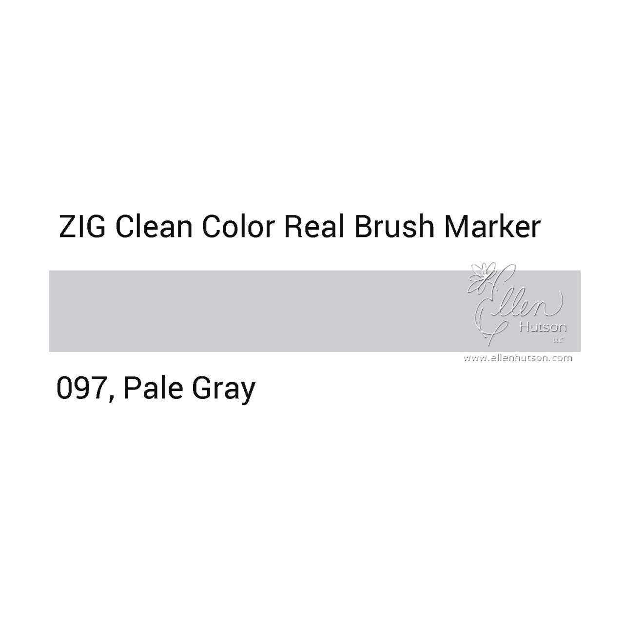 097 - Pale Gray, ZIG Clean Color Real Brush Marker -