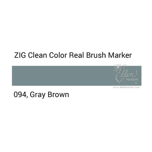 094 - Gray Brown, ZIG Clean Color Real Brush Marker -