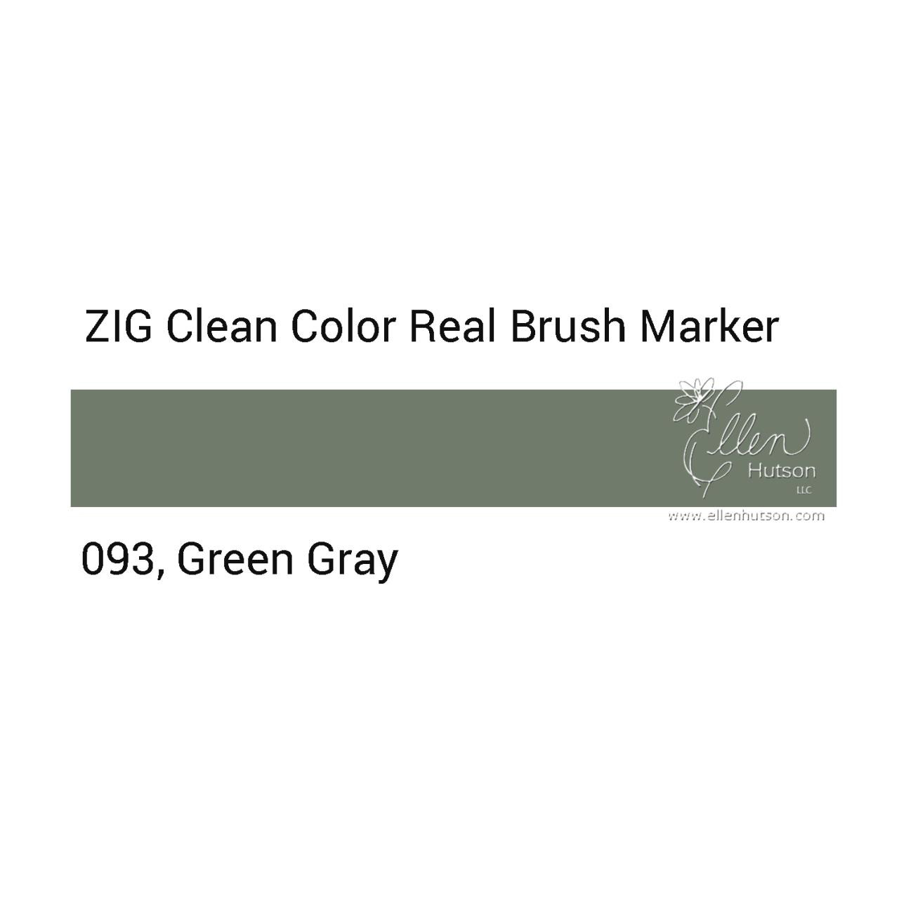 093 - Green Gray, ZIG Clean Color Real Brush Marker -