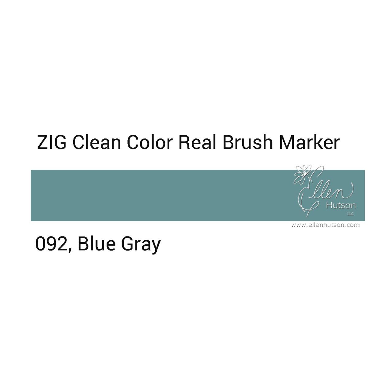 092 - Blue Gray, ZIG Clean Color Real Brush Marker -