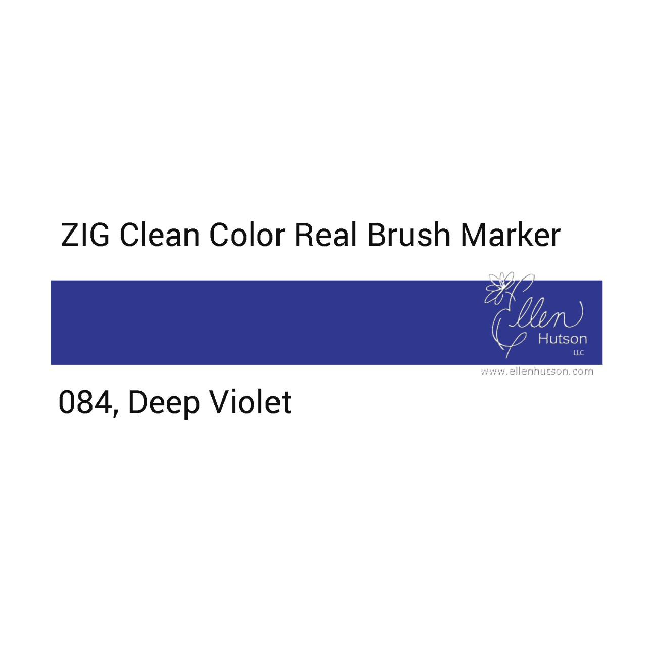 084 - Deep Violet, ZIG Clean Color Real Brush Marker -