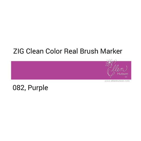 082 - Purple, ZIG Clean Color Real Brush Marker -