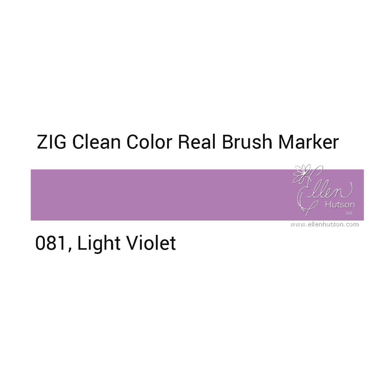 081 - Light Violet, ZIG Clean Color Real Brush Marker -