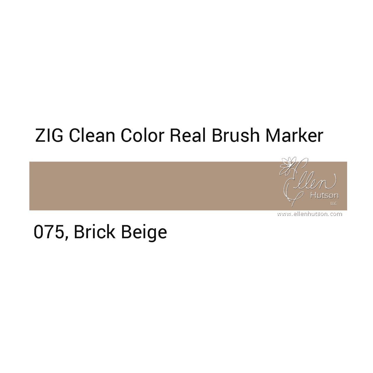 075 - Brick Beige, ZIG Clean Color Real Brush Marker -