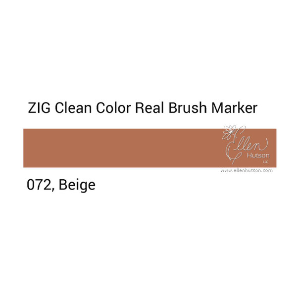 072 - Beige, ZIG Clean Color Real Brush Marker -