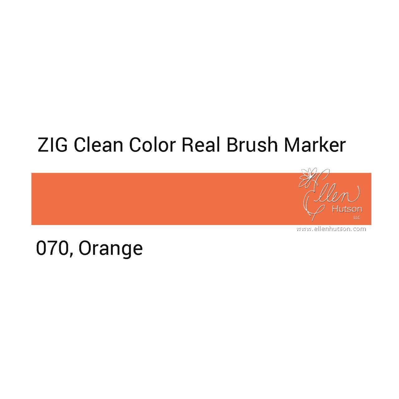 070 - Orange, ZIG Clean Color Real Brush Marker -