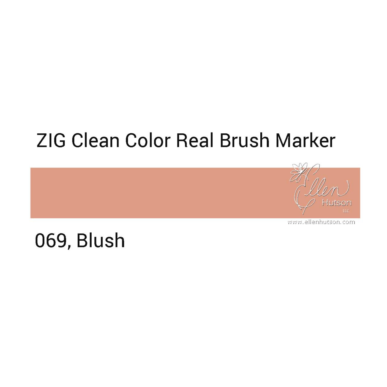 069 - Blush, ZIG Clean Color Real Brush Marker -