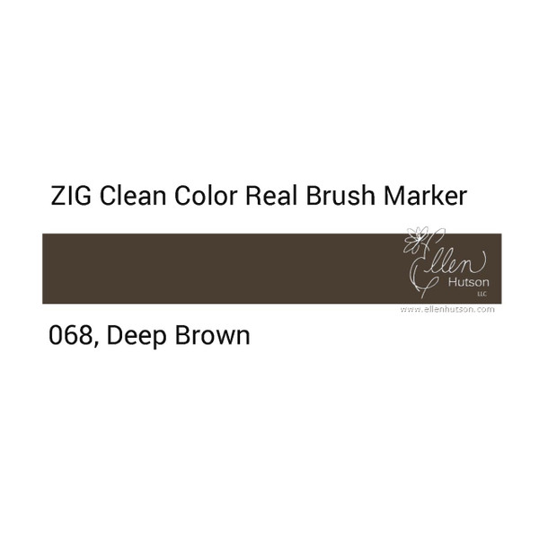 068 - Deep Brown, ZIG Clean Color Real Brush Marker -