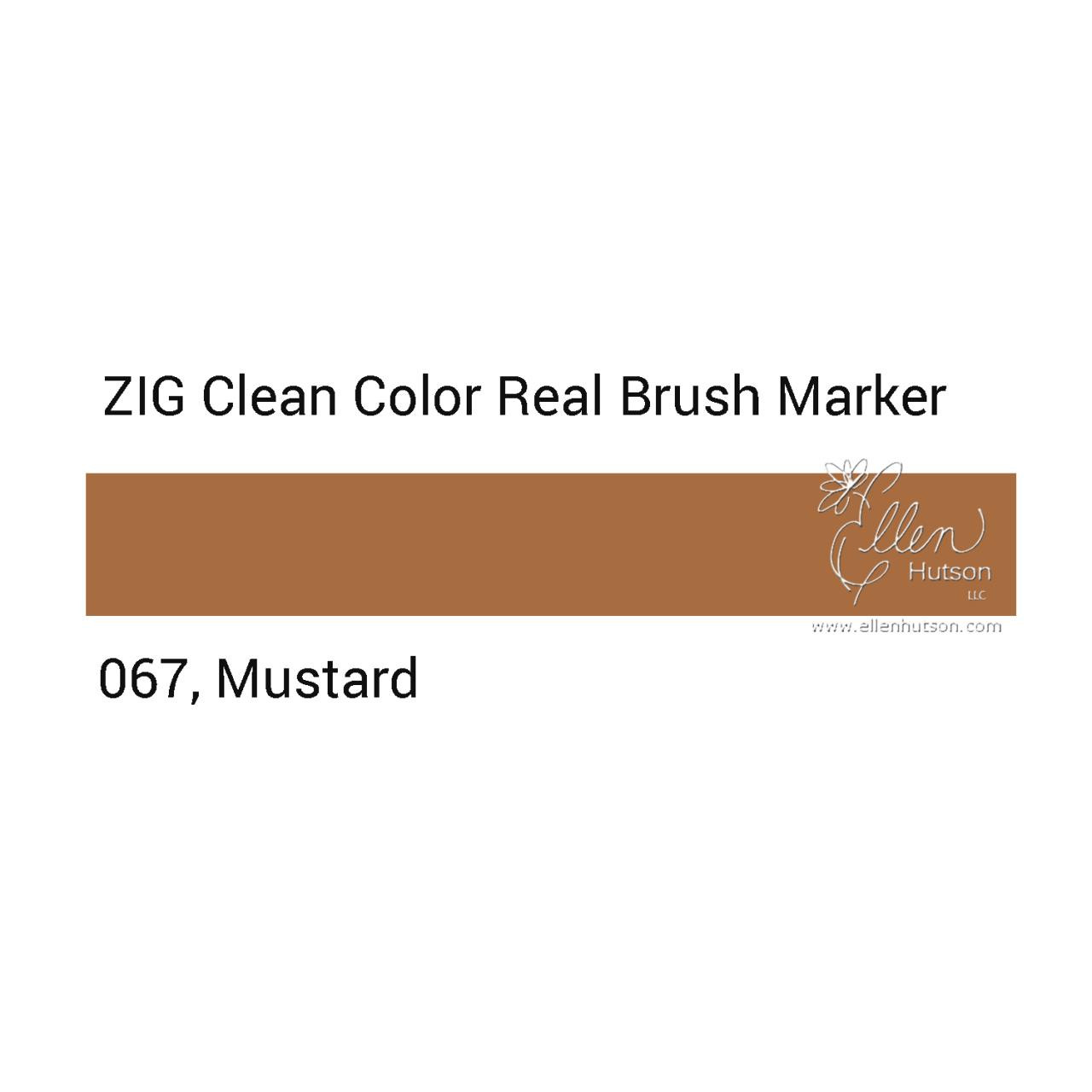 067 - Mustard, ZIG Clean Color Real Brush Marker -