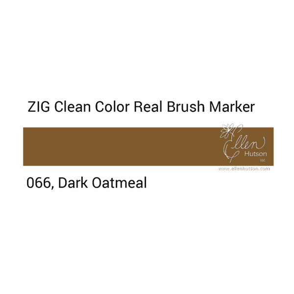066 - Dark Oatmeal, ZIG Clean Color Real Brush Marker -