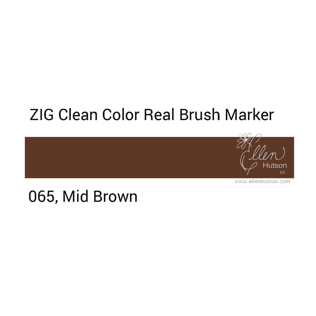 065 - Mid Brown, ZIG Clean Color Real Brush Marker -
