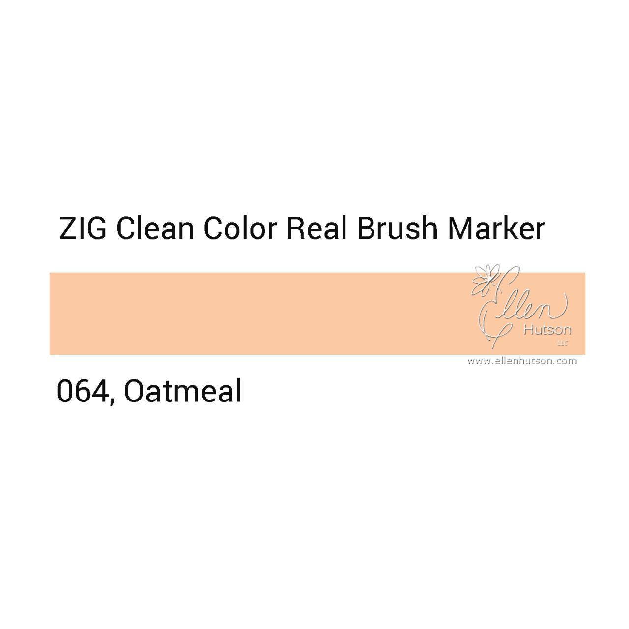 064 - Oatmeal, ZIG Clean Color Real Brush Marker -