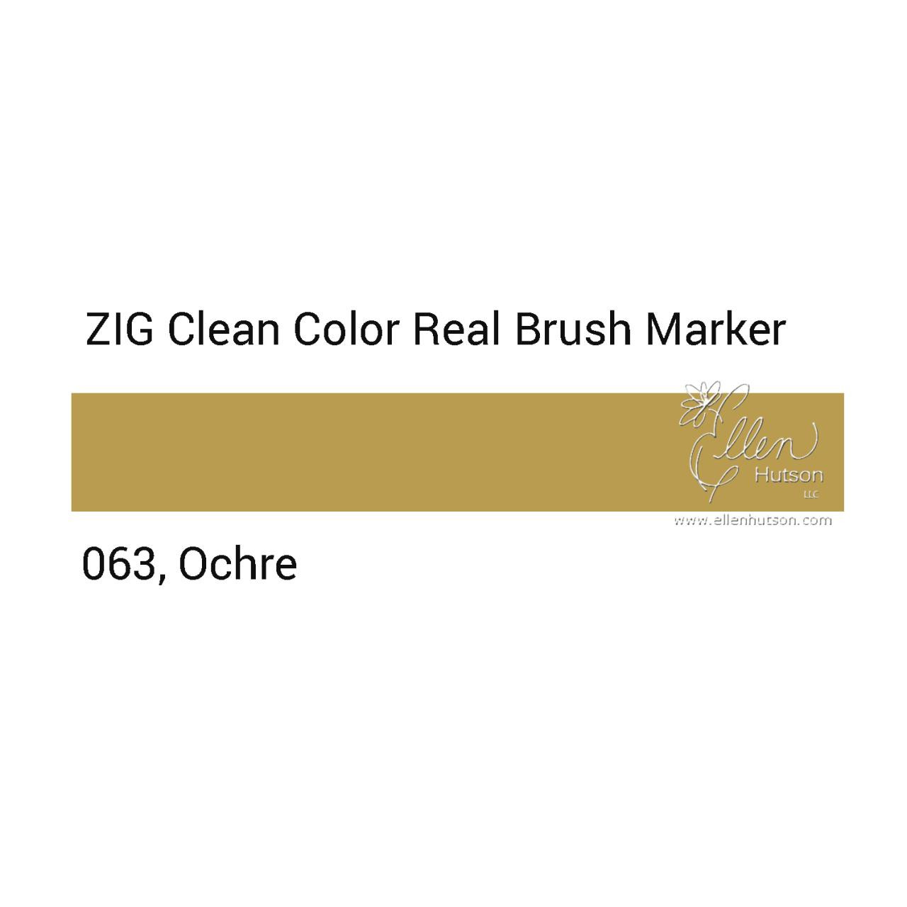 063 - Ochre, ZIG Clean Color Real Brush Marker -