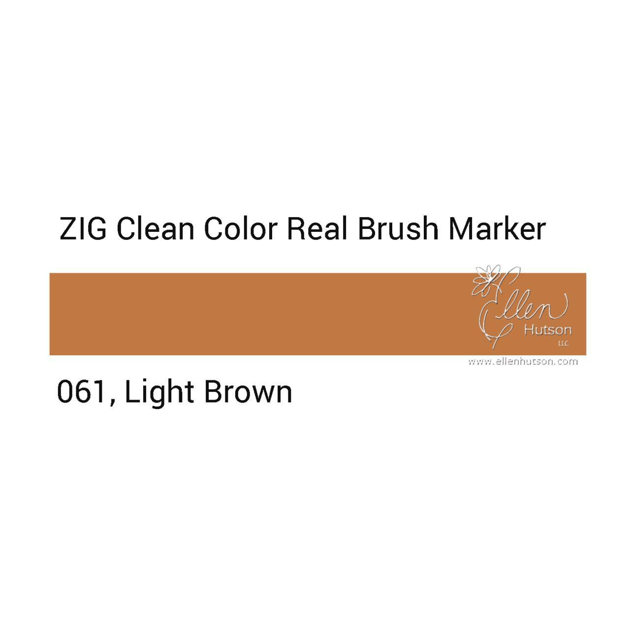061 - Light Brown, ZIG Clean Color Real Brush Marker -