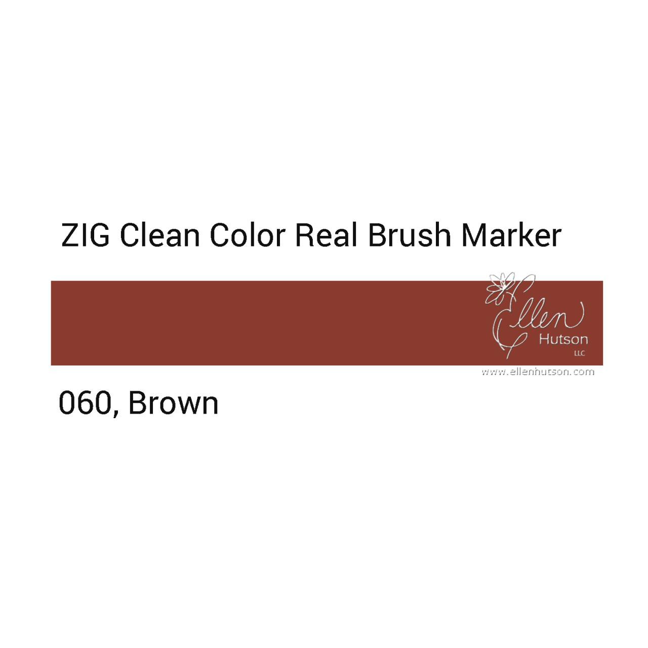 060 - Brown, ZIG Clean Color Real Brush Marker -