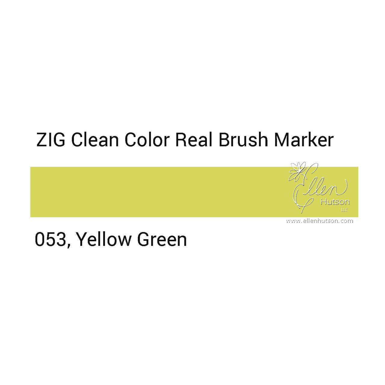 053 - Yellow Green, ZIG Clean Color Real Brush Marker -