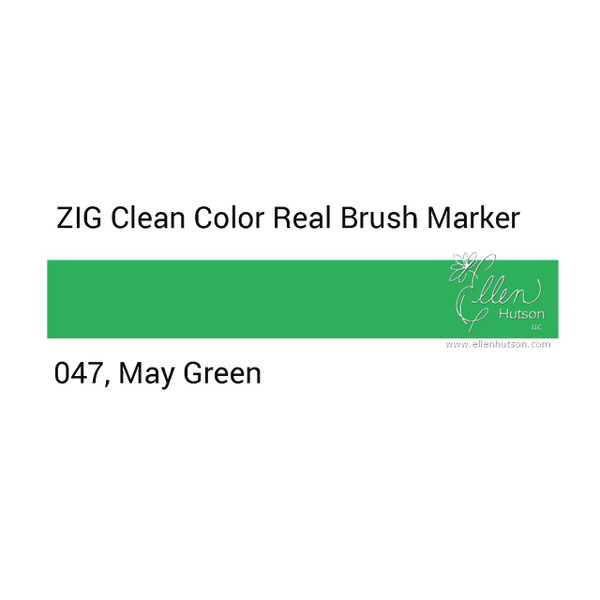047 - May Green, ZIG Clean Color Real Brush Marker -