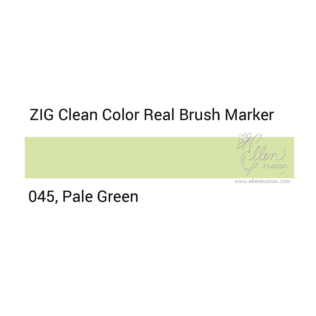 045 - Pale Green, ZIG Clean Color Real Brush Marker -