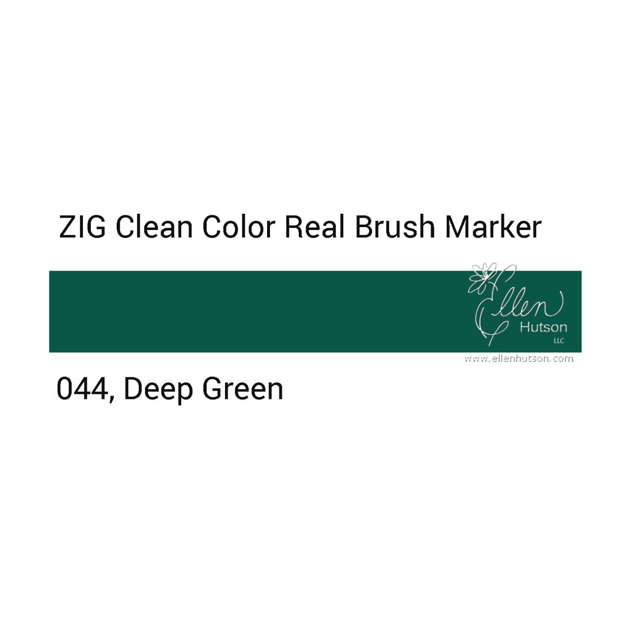 044 - Deep Green, ZIG Clean Color Real Brush Marker -