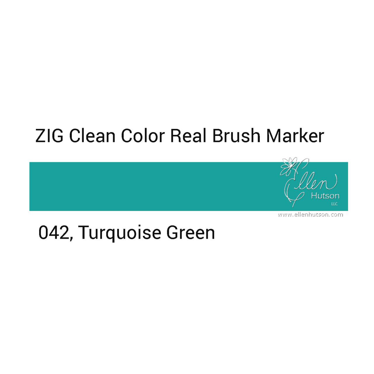 042 - Turquoise Green, ZIG Clean Color Real Brush Marker -