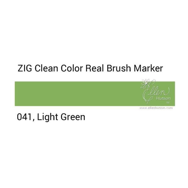 041 - Light Green, ZIG Clean Color Real Brush Marker -