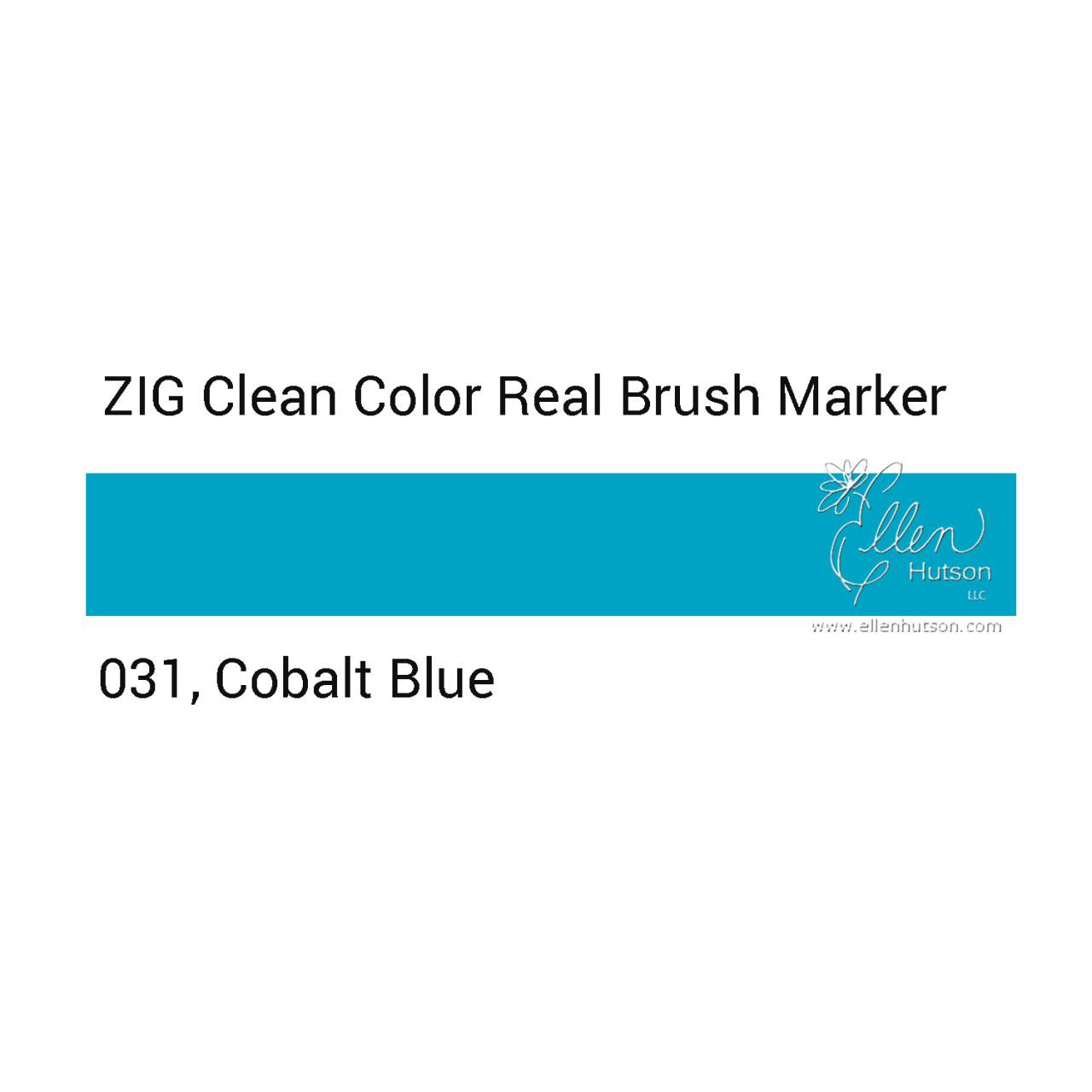 031 - Cobalt Blue, ZIG Clean Color Real Brush Marker -