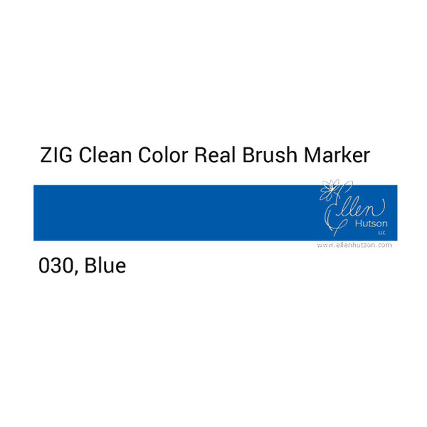 030 - Blue, ZIG Clean Color Real Brush Marker -