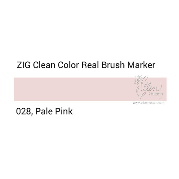 028 - Pale Pink, ZIG Clean Color Real Brush Marker -
