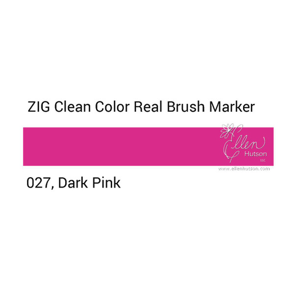 027 - Dark Pink, ZIG Clean Color Real Brush Marker -