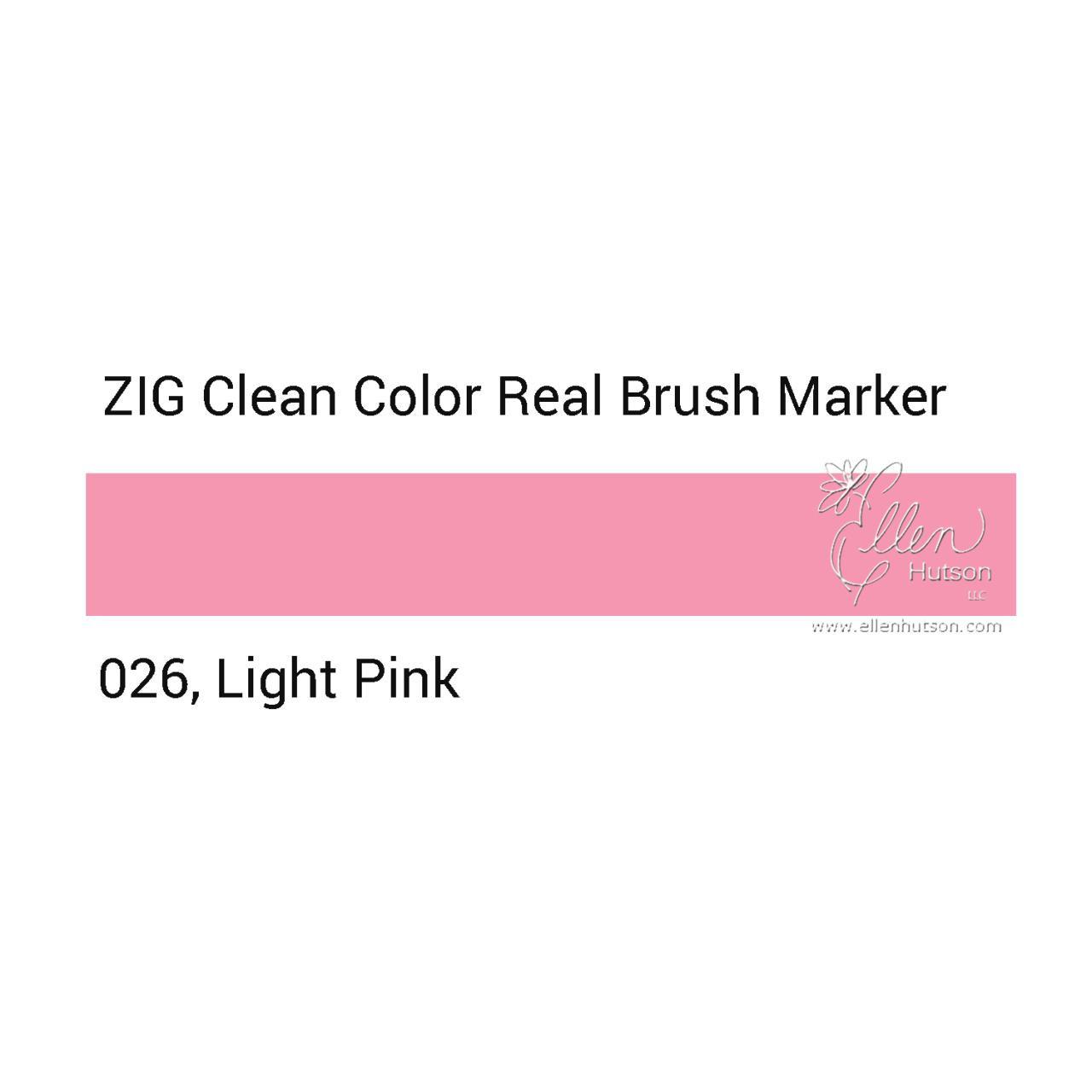026 - Light Pink, ZIG Clean Color Real Brush Marker -