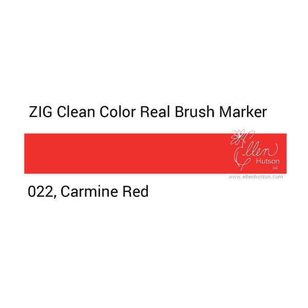 022 - Carmine Red, ZIG Clean Color Real Brush Marker -