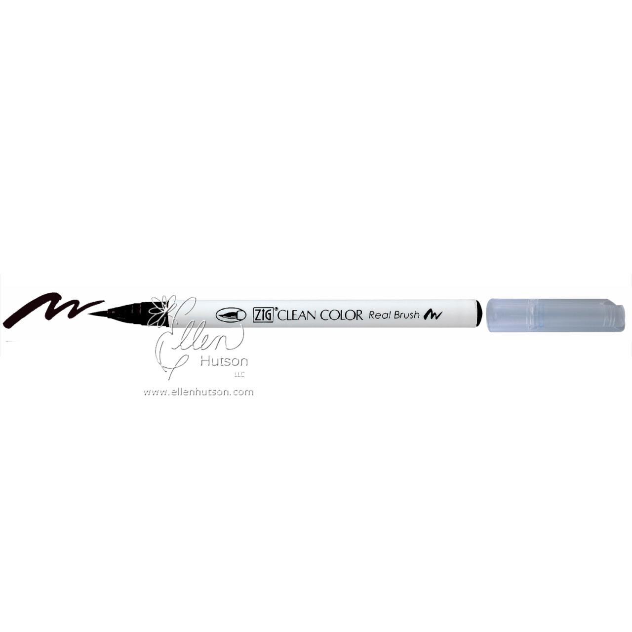 010 - Black, ZIG Clean Color Real Brush Marker -