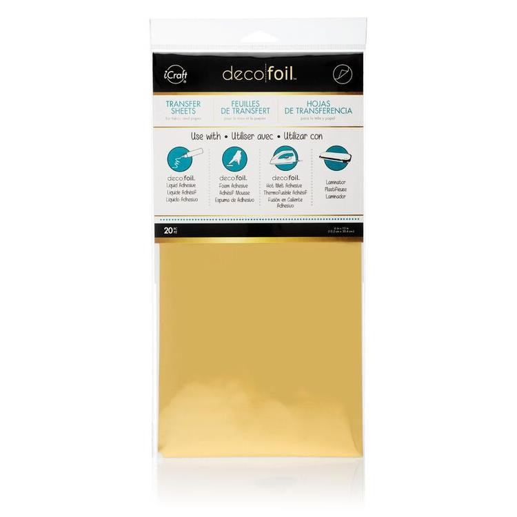 iCraft Deco Foil Transfer Sheets Value Pack, Gold -