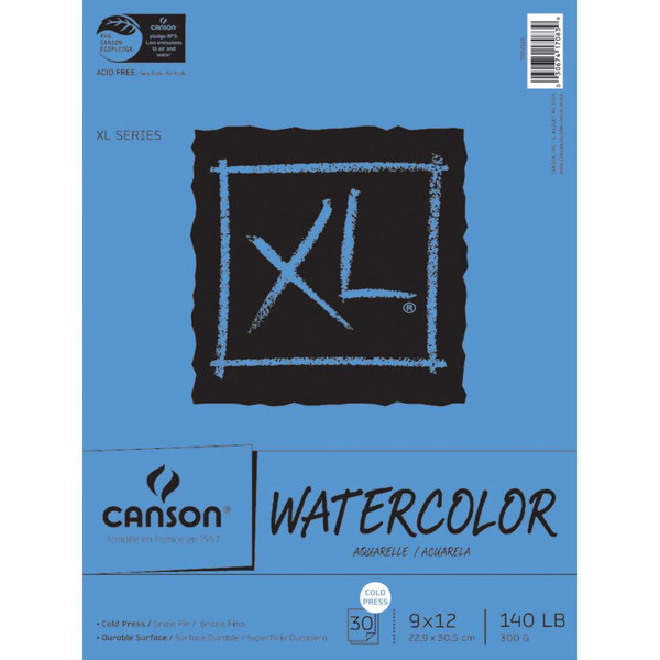 Watercolor Paper Pad 9x12, Canson XL -